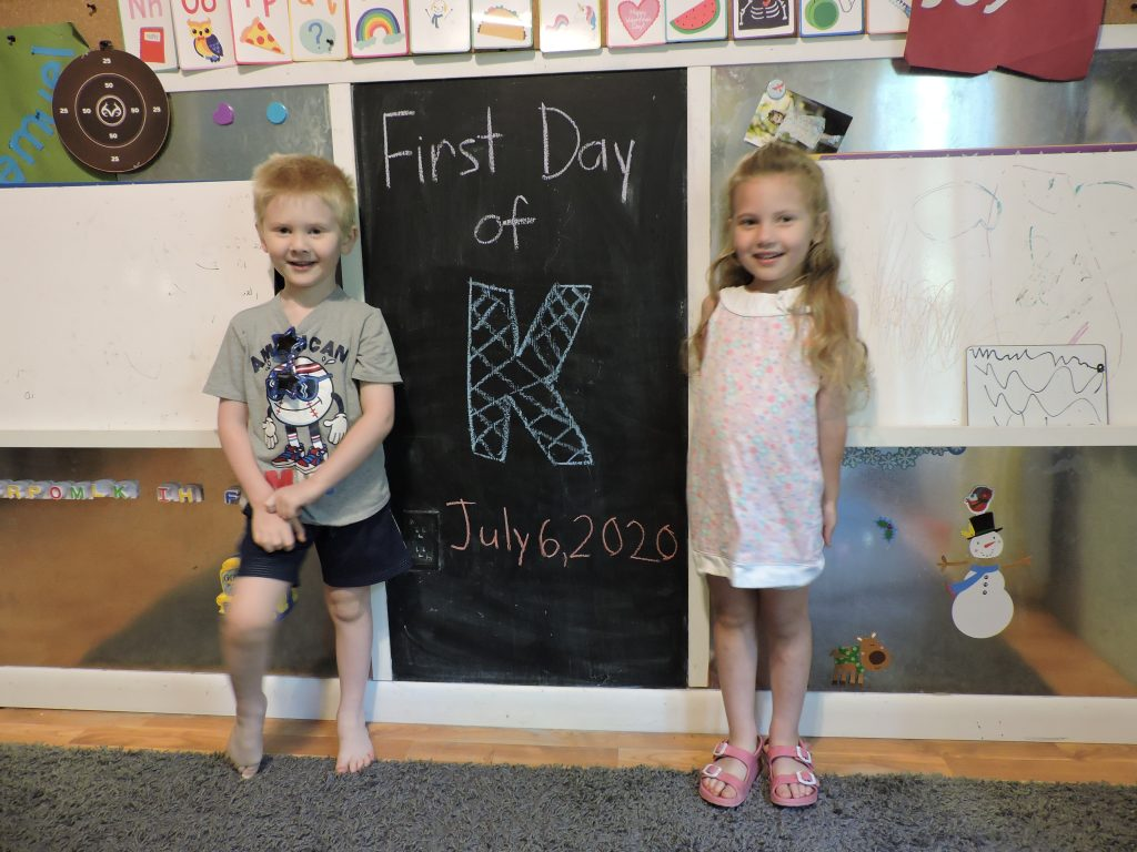 A New Adventure - First day of Kindergarten